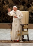 Pope delivers blessing during general audience at Vatican