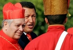 2006 file photo of Venezuelan President Hugo Chavez with Cardinal Savino of Caracas