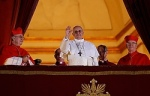 Pope Francis I appears for first time on balcony of St. Peter's Basilica