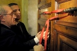 Vatican workers seal door leading to pope's private apartment in Apostolic Palace