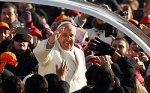 Pope greets crowd as he arrives to lead general audience in St. Peter's Square at Vatican