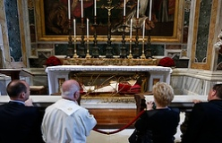 People pray at tomb of St. John XXIII
