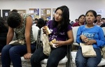 Migrants from Guatemala deported from U.S. wait at La Aurora airport in Guatemala City