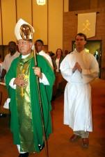 Bishop entering Mass