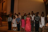 CYO & CCD singing after Mass