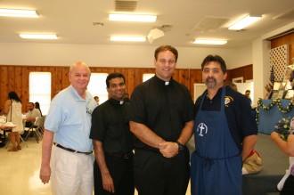 Deacon Harry Davis, Fr. Antony Paulose, Fr. Michael Slovak, Paul Montes