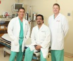 Trauma surgeons David Parkus, M.D., Dar Kavouspour, M.D., and Richard Francis, M.D. have lead the effort to grow Southeast Texas' only trauma center at CHRISTUS Hospital - St. Elizabeth, which cares for more than 1,200 patients annually.